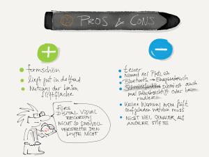 Pros und Cons Pencil