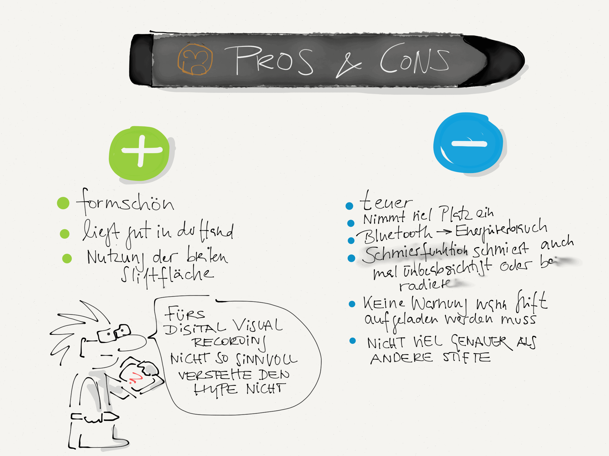 Pros und Cons Pencil