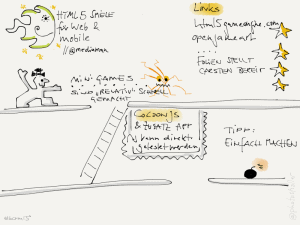 Sketchnote zu html5 games