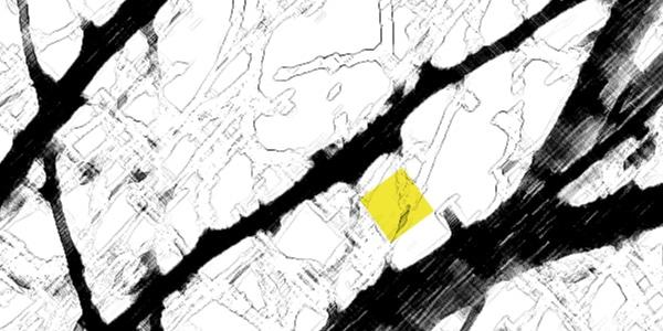 Beratung Strukturen schwarz weiß mit gelbem Rechteck