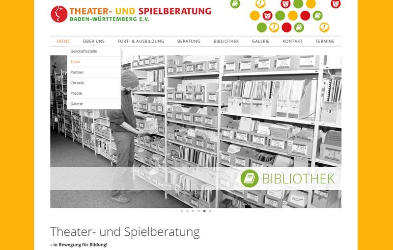 Screenshot Webseite Theater- und Spielberatung