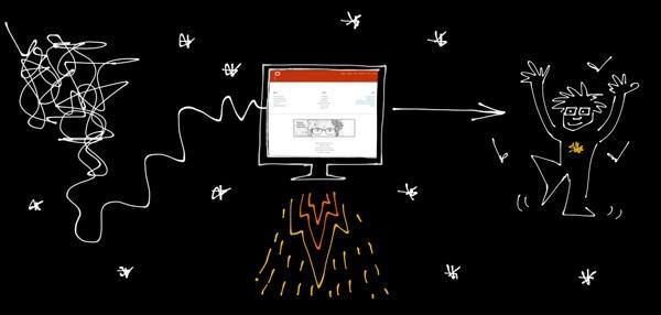 Sketchnot zum Relaunch der Webseite