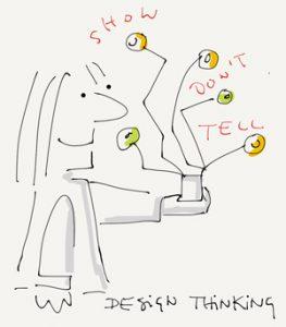 Dont show, tell - Sketchnote Ausschnitt