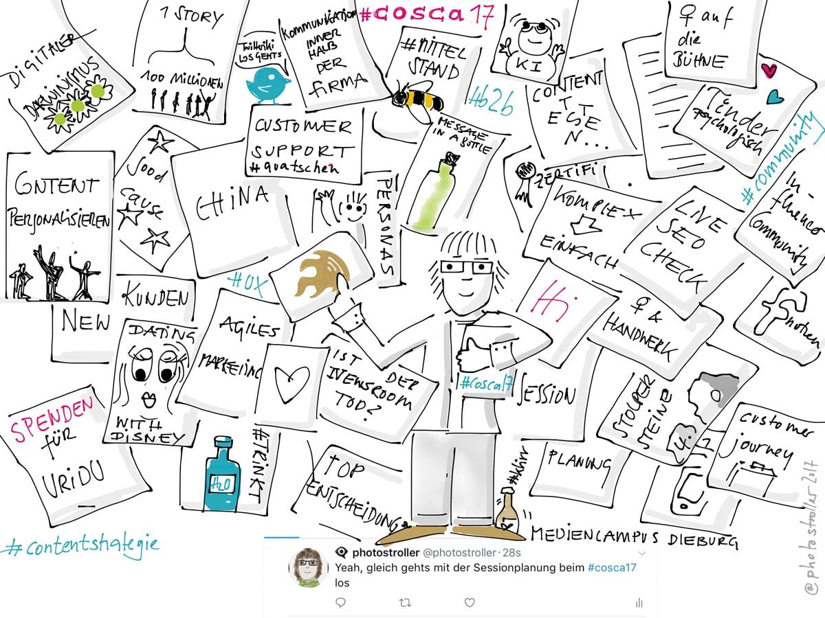 Sketchnote Sessionplanung #cosca17
